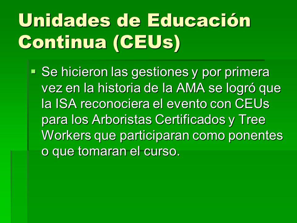 Unidades de Educación Continua (CEUs)