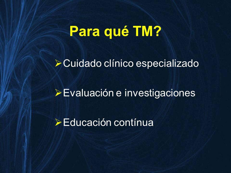 Para qué TM Cuidado clínico especializado