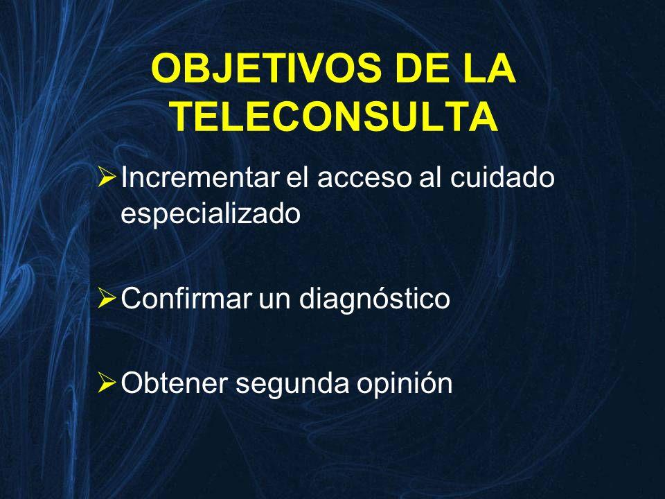 OBJETIVOS DE LA TELECONSULTA