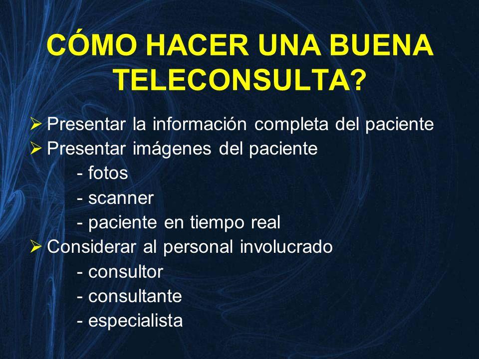 CÓMO HACER UNA BUENA TELECONSULTA