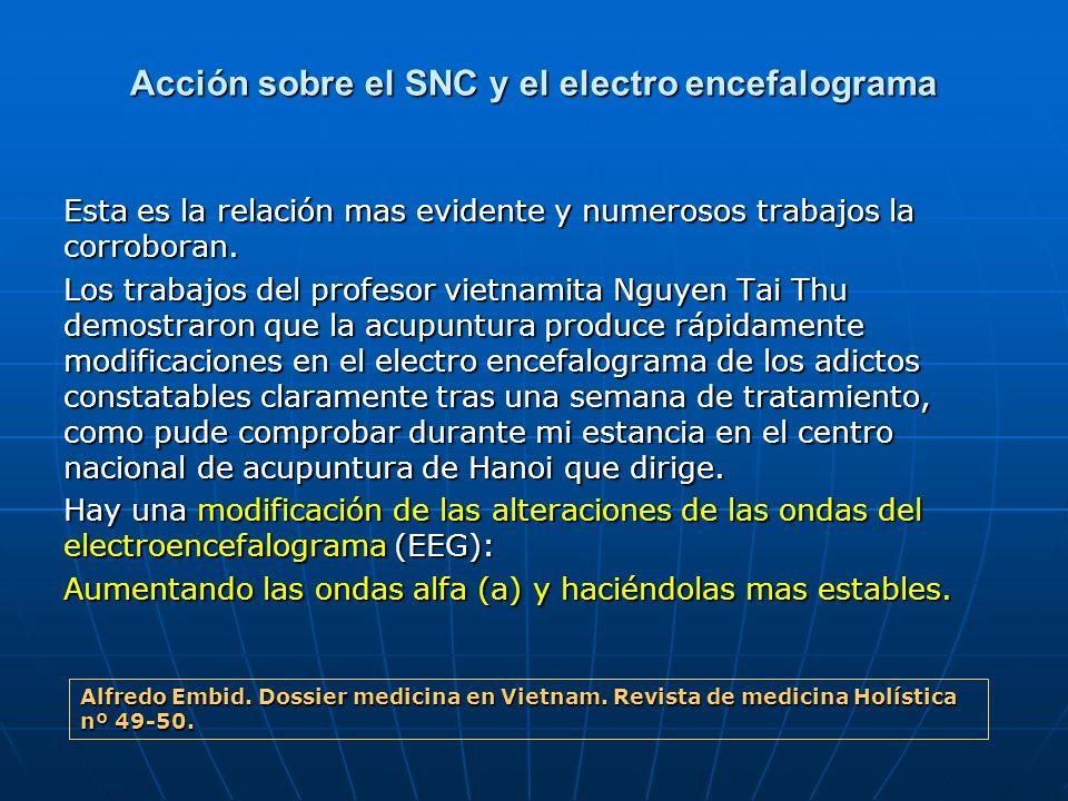Acción sobre el SNC y el electro encefalograma
