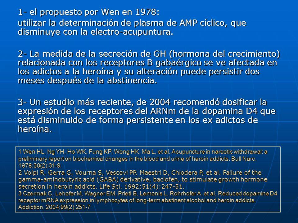 1- el propuesto por Wen en 1978: