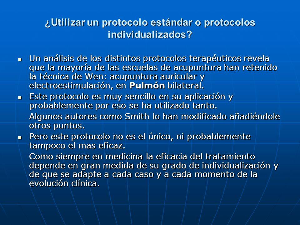 ¿Utilizar un protocolo estándar o protocolos individualizados