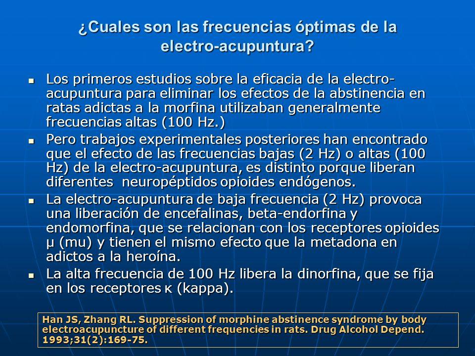 ¿Cuales son las frecuencias óptimas de la electro-acupuntura