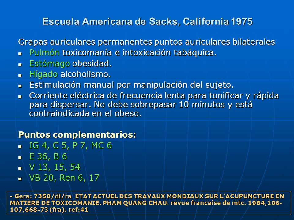 Escuela Americana de Sacks, California 1975