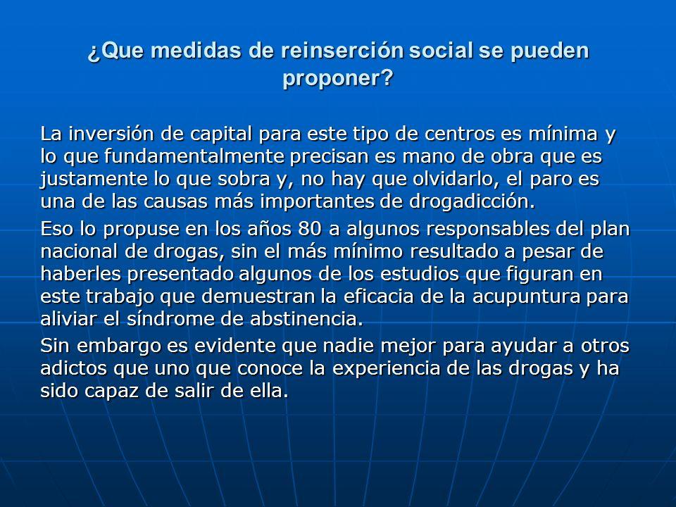¿Que medidas de reinserción social se pueden proponer