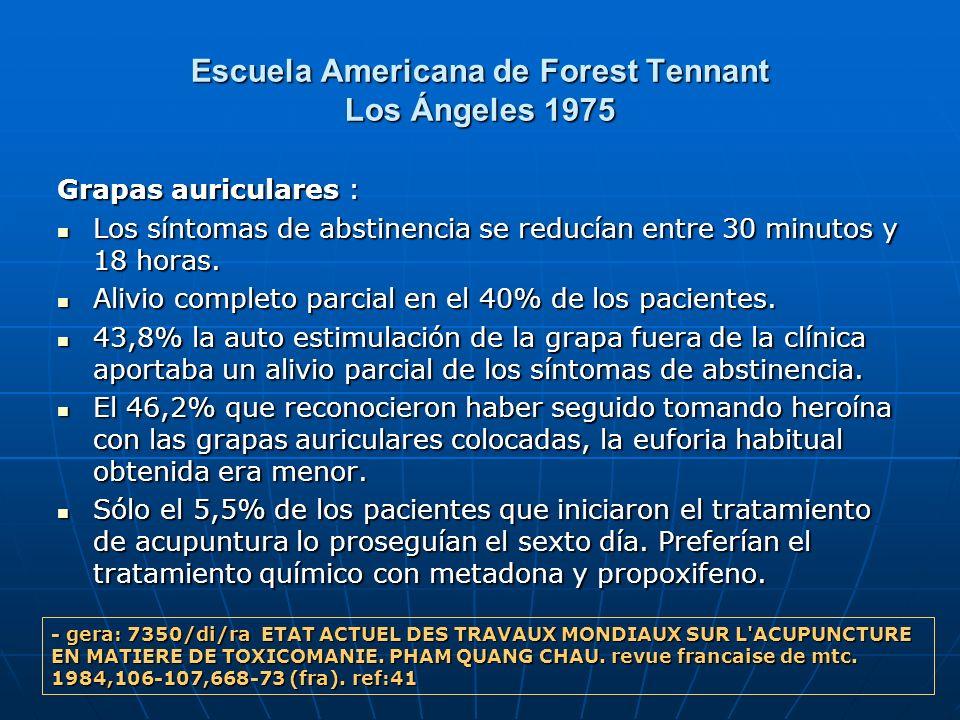 Escuela Americana de Forest Tennant Los Ángeles 1975