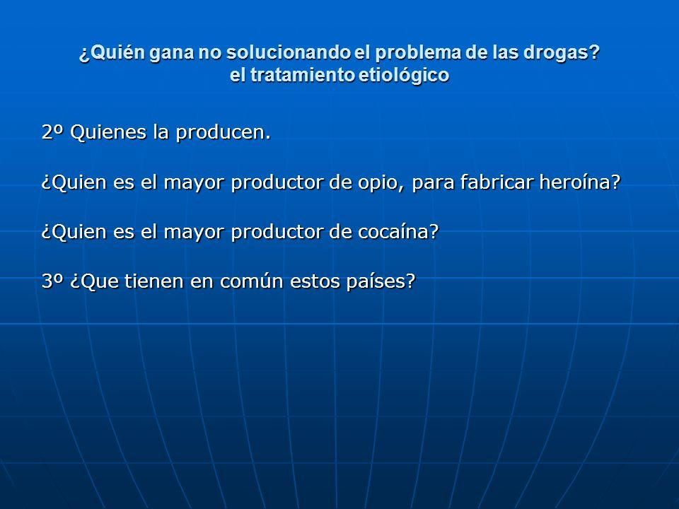 ¿Quién gana no solucionando el problema de las drogas