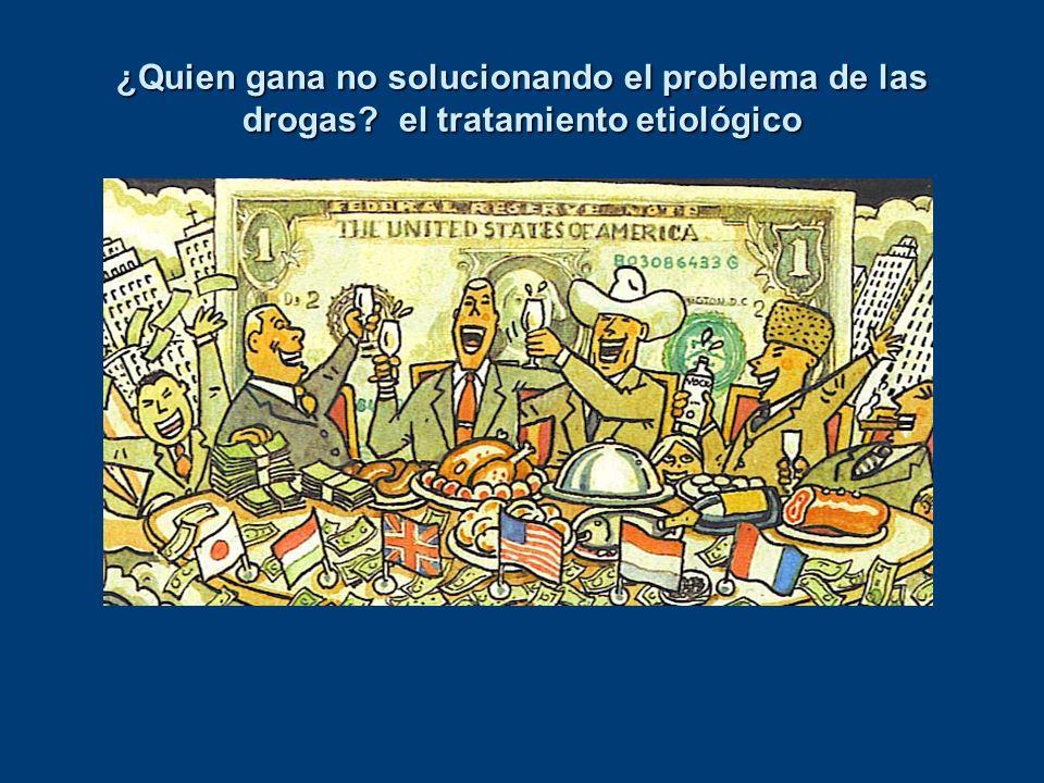 ¿Quien gana no solucionando el problema de las drogas