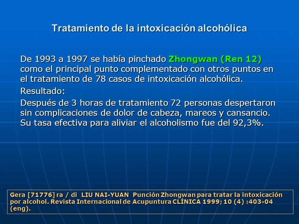 Tratamiento de la intoxicación alcohólica