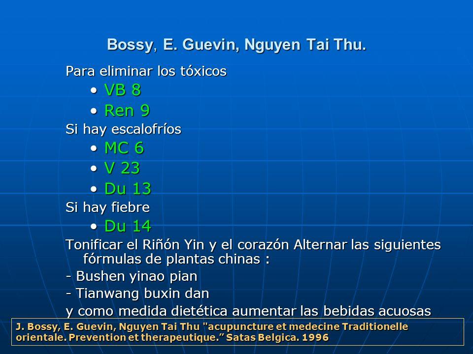 Bossy, E. Guevin, Nguyen Tai Thu.