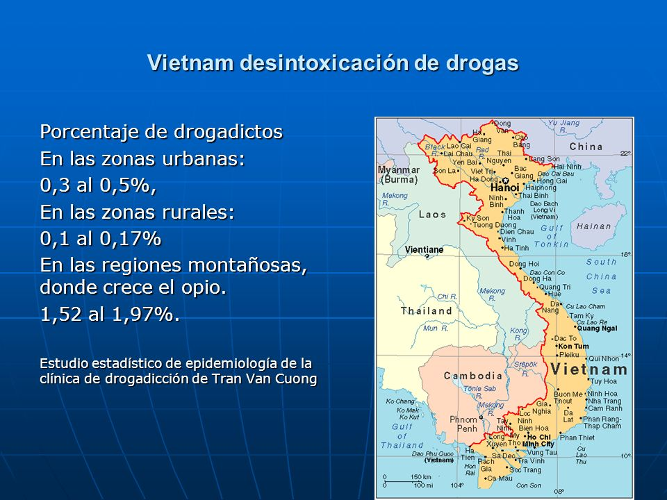 Vietnam desintoxicación de drogas