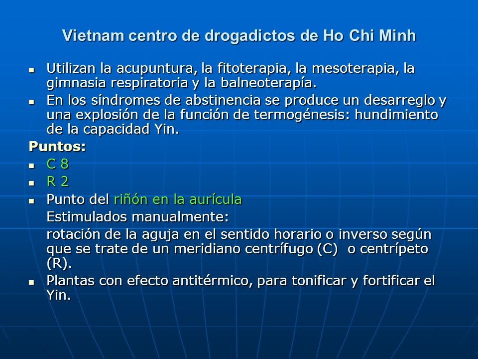 Vietnam centro de drogadictos de Ho Chi Minh