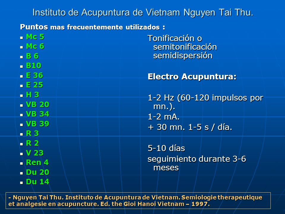 Instituto de Acupuntura de Vietnam Nguyen Tai Thu.
