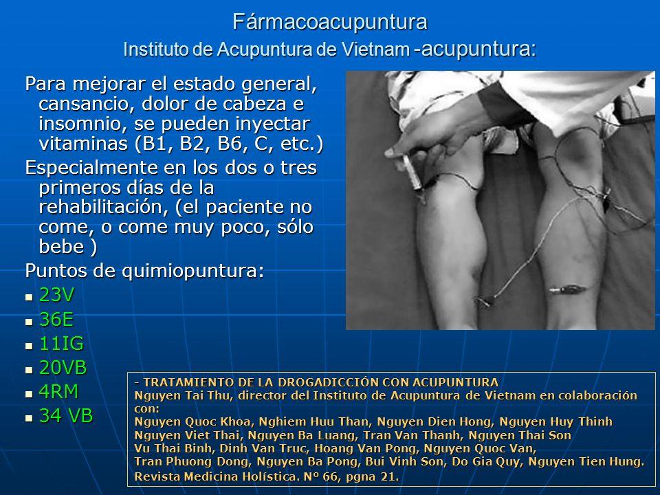 Fármacoacupuntura Instituto de Acupuntura de Vietnam -acupuntura: