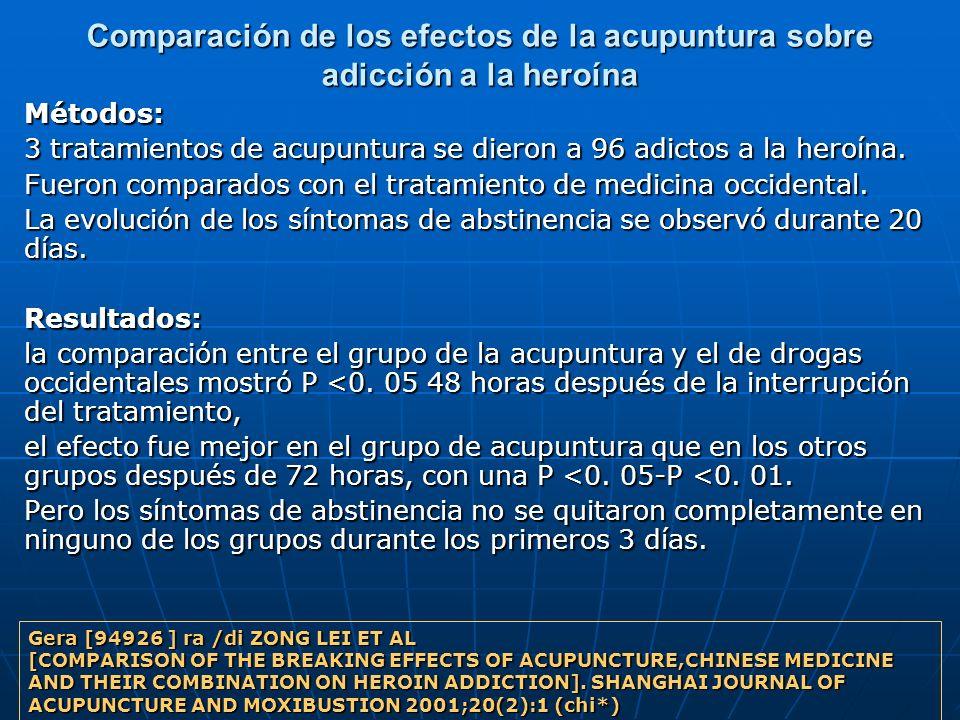 Comparación de los efectos de la acupuntura sobre adicción a la heroína