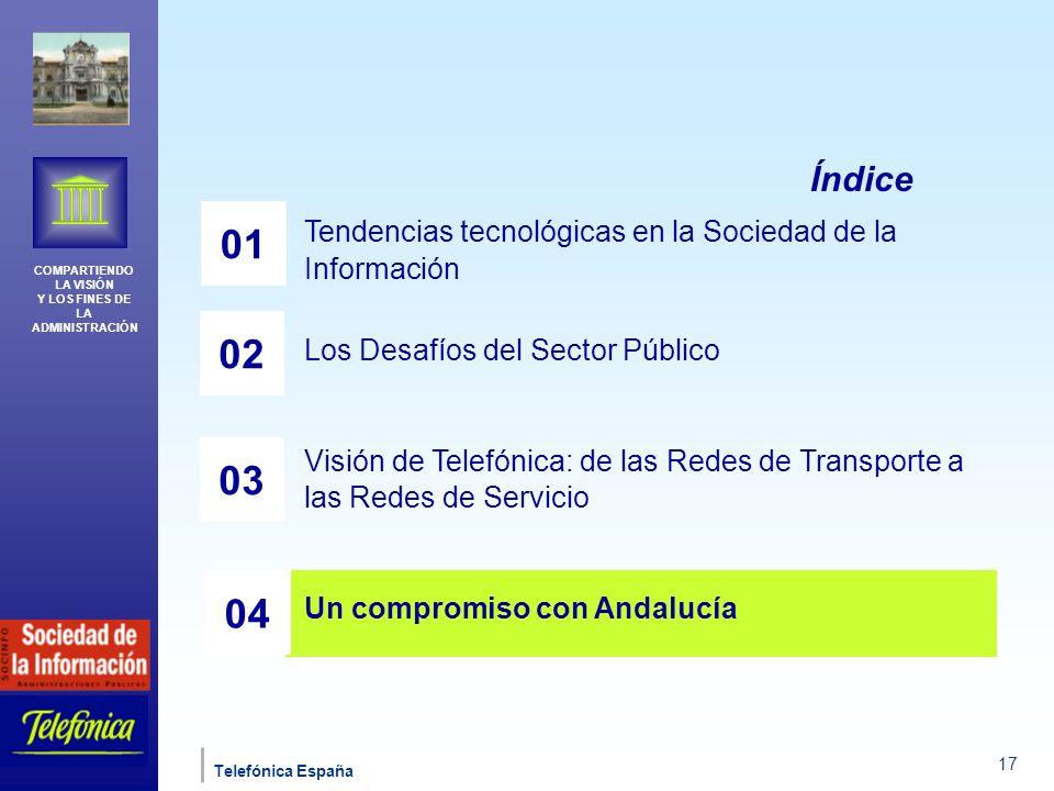 Índice 01. Tendencias tecnológicas en la Sociedad de la Información. Los Desafíos del Sector Público.