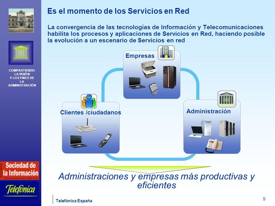 Administraciones y empresas más productivas y eficientes
