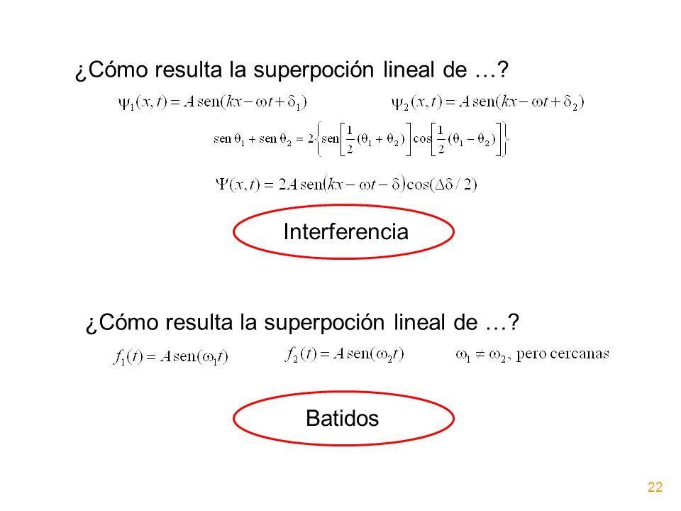 ¿Cómo resulta la superpoción lineal de …