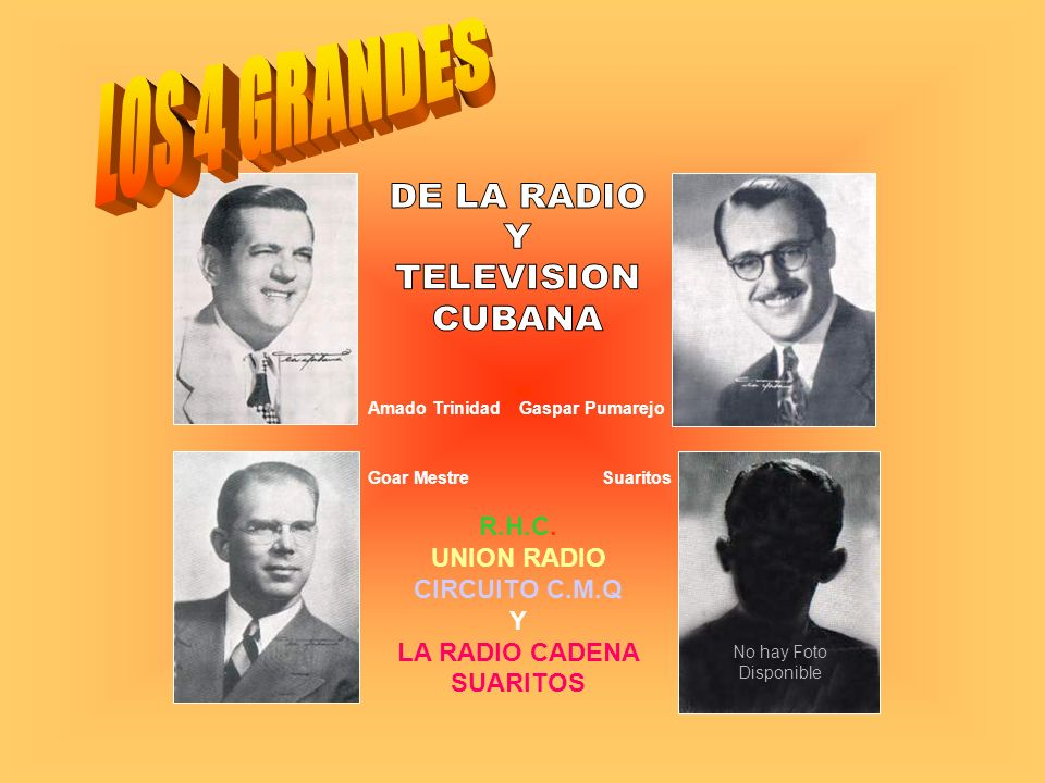 R.H.C. UNION RADIO CIRCUITO C.M.Q Y LA RADIO CADENA SUARITOS
