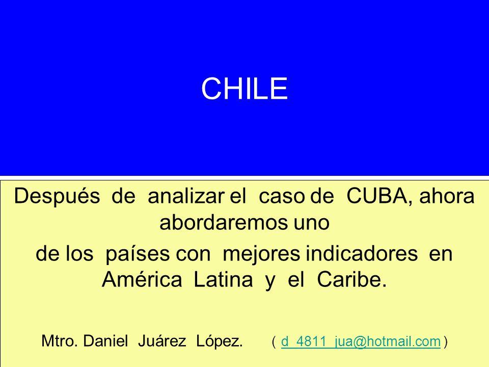 CHILE Después de analizar el caso de CUBA, ahora abordaremos uno