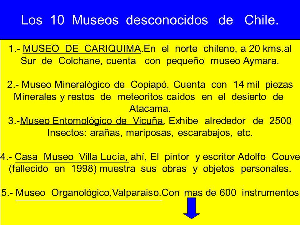 Los 10 Museos desconocidos de Chile.