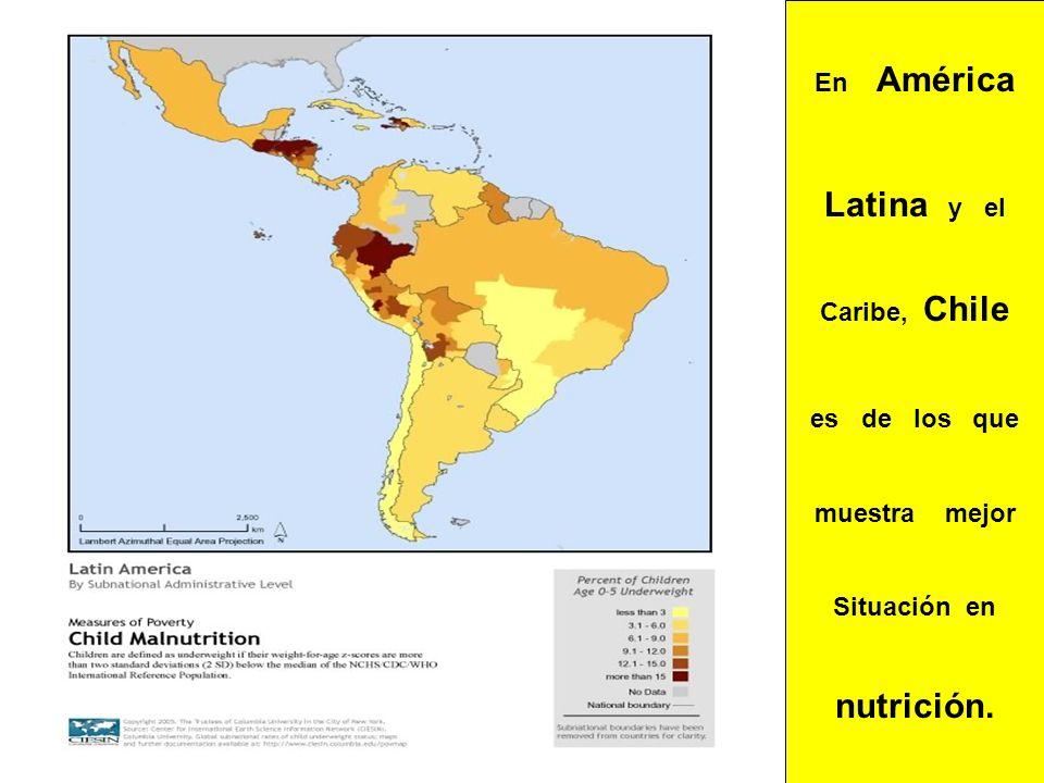 Latina y el nutrición. En América Caribe, Chile es de los que