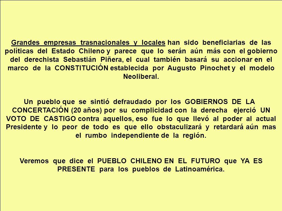 marco de la CONSTITUCIÓN establecida por Augusto Pinochet y el modelo
