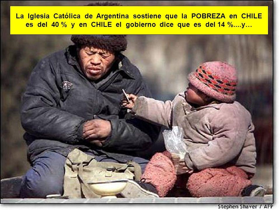La Iglesia Católica de Argentina sostiene que la POBREZA en CHILE