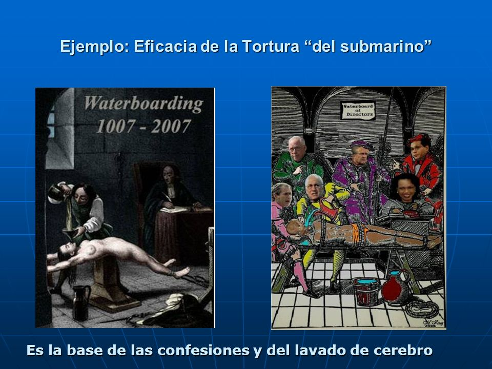 Ejemplo: Eficacia de la Tortura del submarino