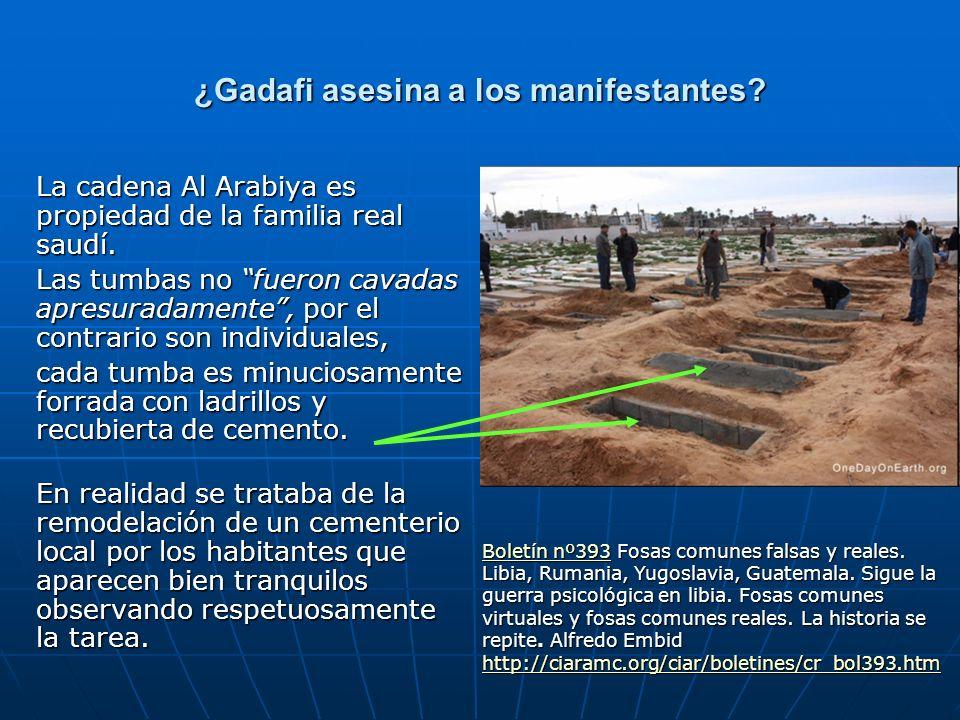¿Gadafi asesina a los manifestantes