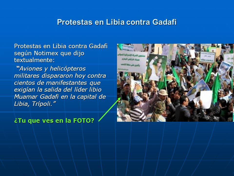 Protestas en Libia contra Gadafi