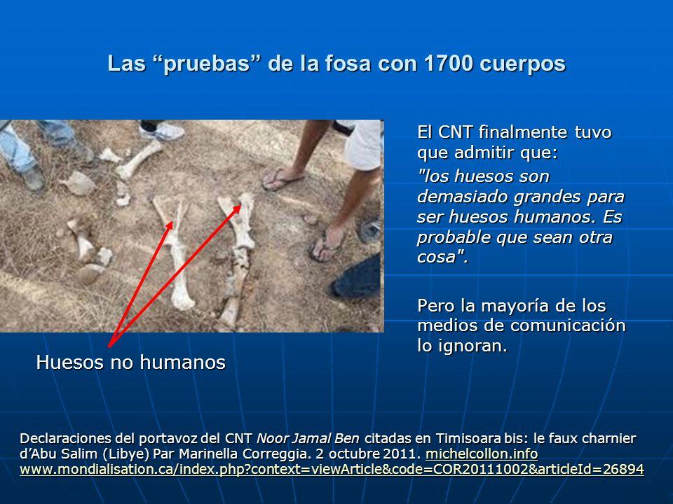 Las pruebas de la fosa con 1700 cuerpos