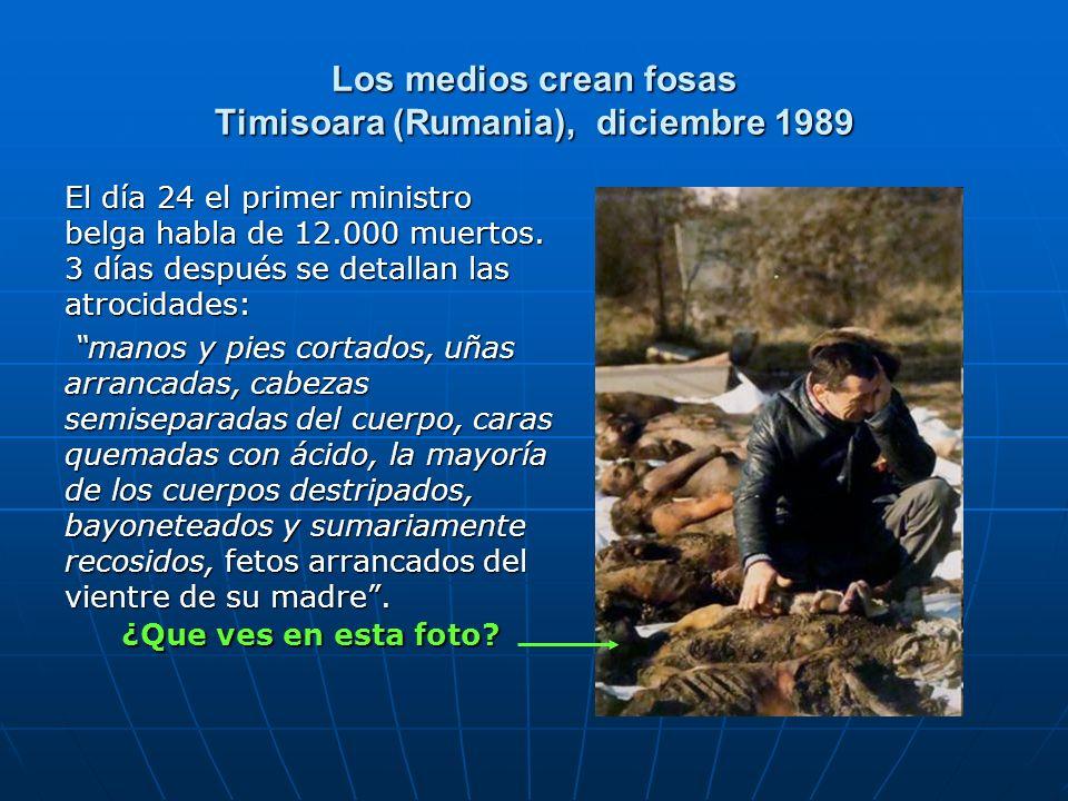 Los medios crean fosas Timisoara (Rumania), diciembre 1989