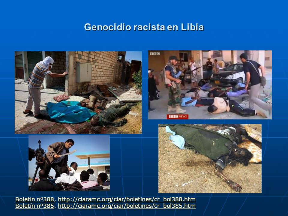 Genocidio racista en Libia