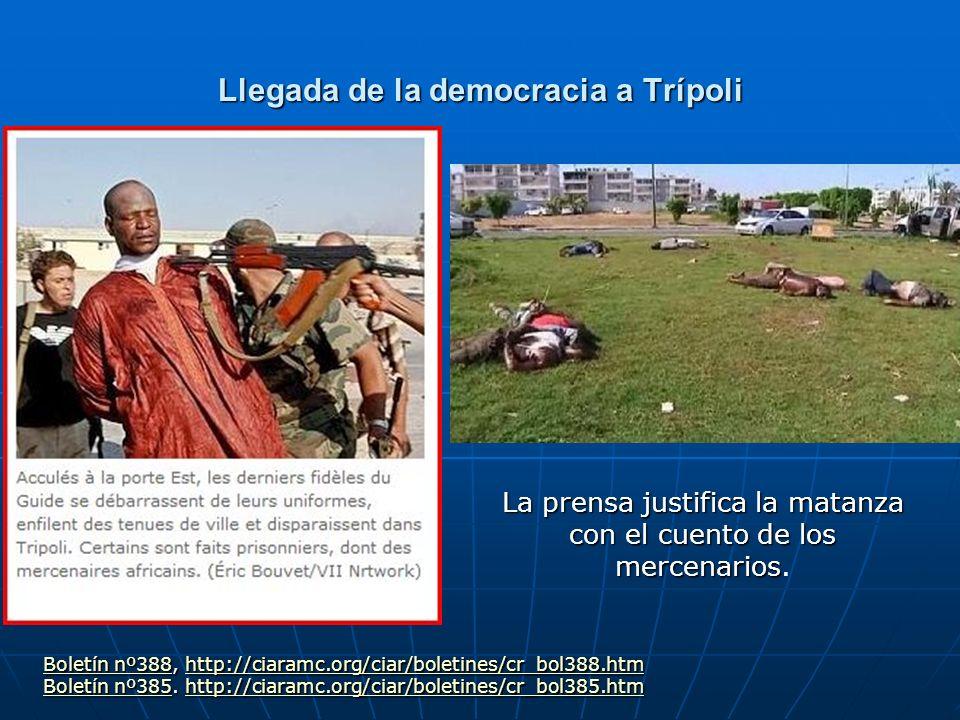 Llegada de la democracia a Trípoli