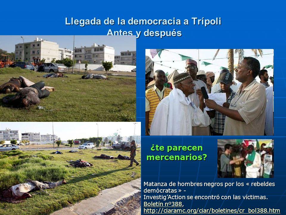 Llegada de la democracia a Trípoli Antes y después