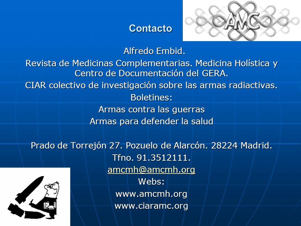 Contacto Alfredo Embid.