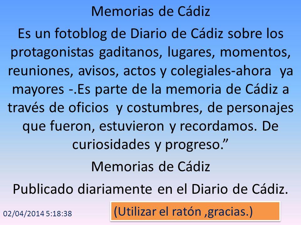 Publicado diariamente en el Diario de Cádiz.
