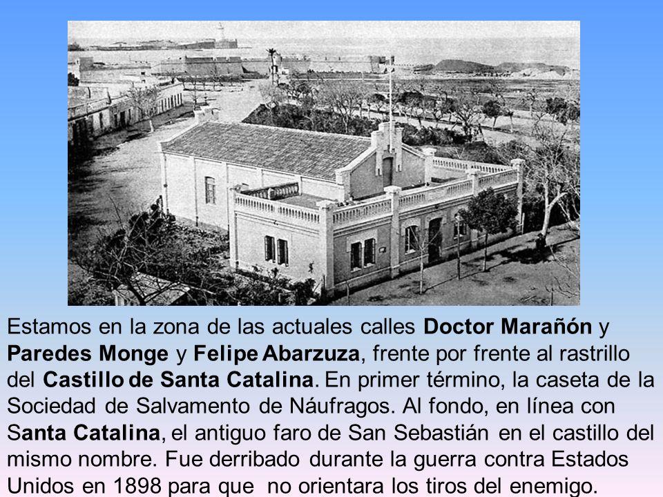Estamos en la zona de las actuales calles Doctor Marañón y Paredes Monge y Felipe Abarzuza, frente por frente al rastrillo del Castillo de Santa Catalina.