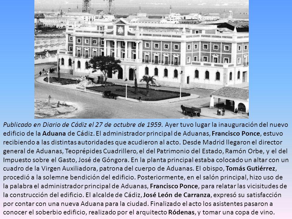 Publicado en Diario de Cádiz el 27 de octubre de 1959
