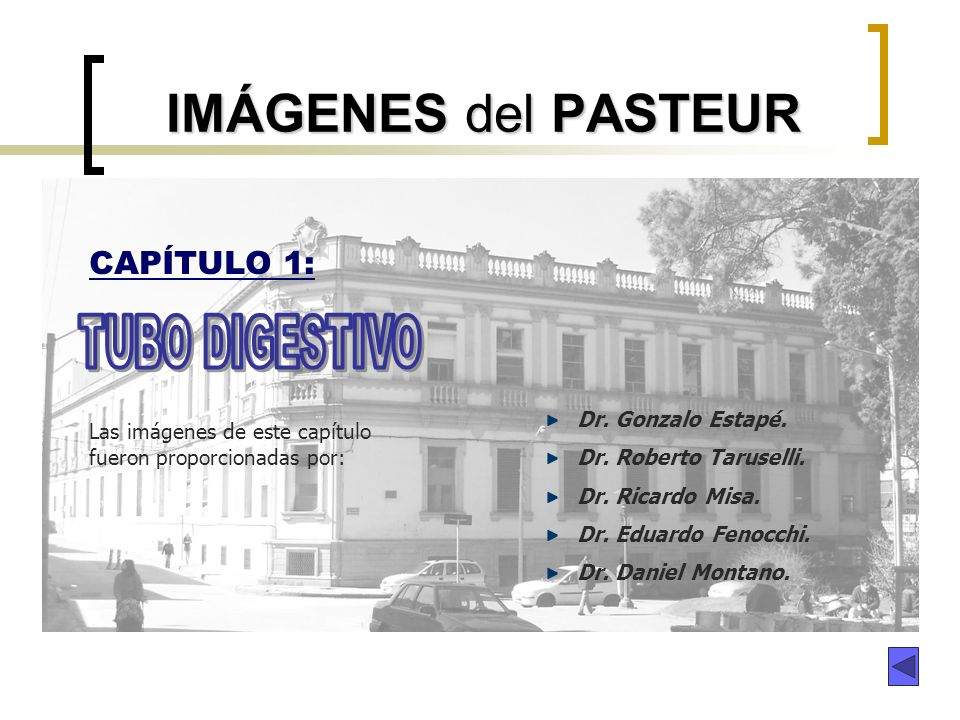 IMÁGENES del PASTEUR TUBO DIGESTIVO CAPÍTULO 1: Dr. Gonzalo Estapé.