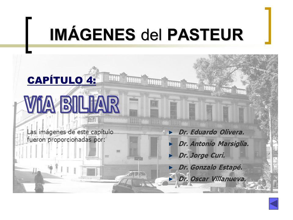 IMÁGENES del PASTEUR VÍA BILIAR CAPÍTULO 4: Dr. Eduardo Olivera.