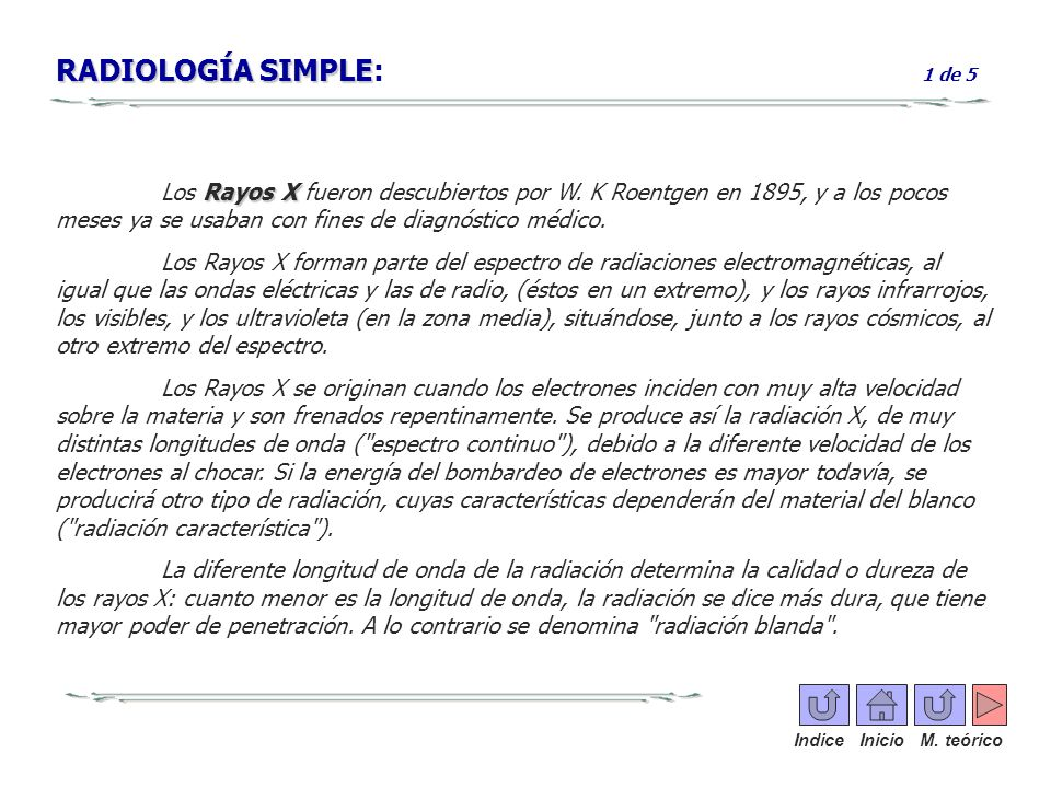 RADIOLOGÍA SIMPLE: 1 de 5