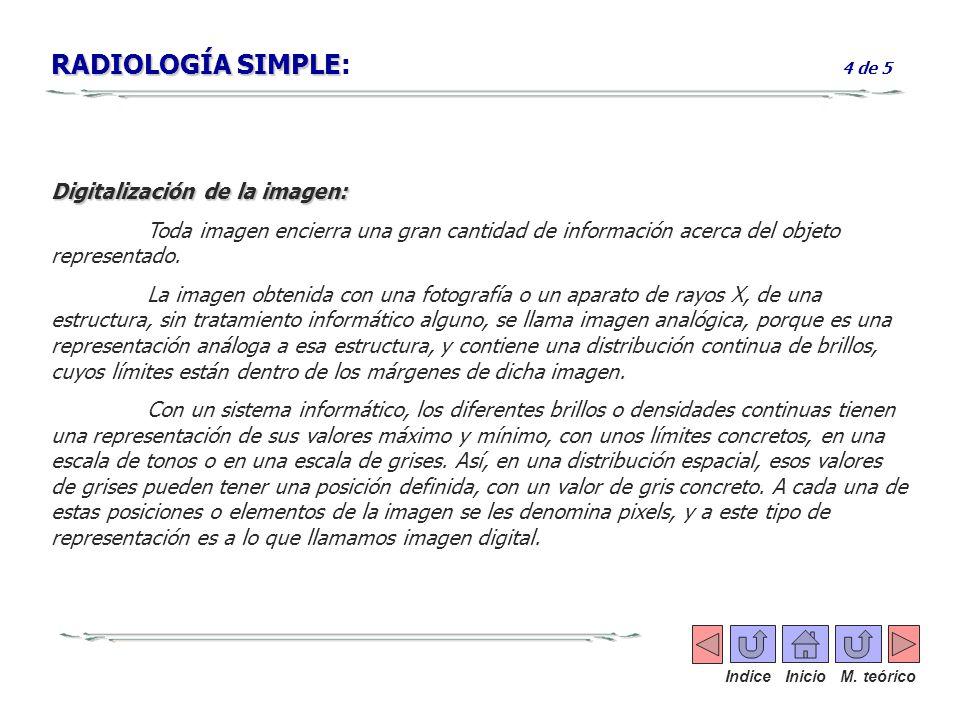 RADIOLOGÍA SIMPLE: 4 de 5 Digitalización de la imagen: