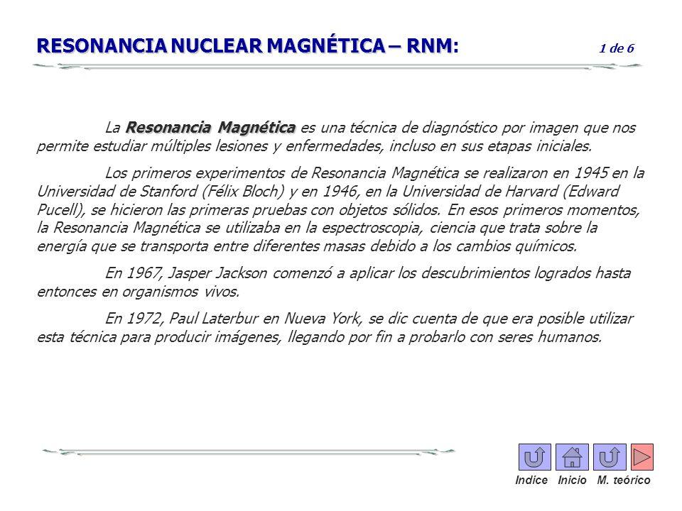 RESONANCIA NUCLEAR MAGNÉTICA – RNM: 1 de 6
