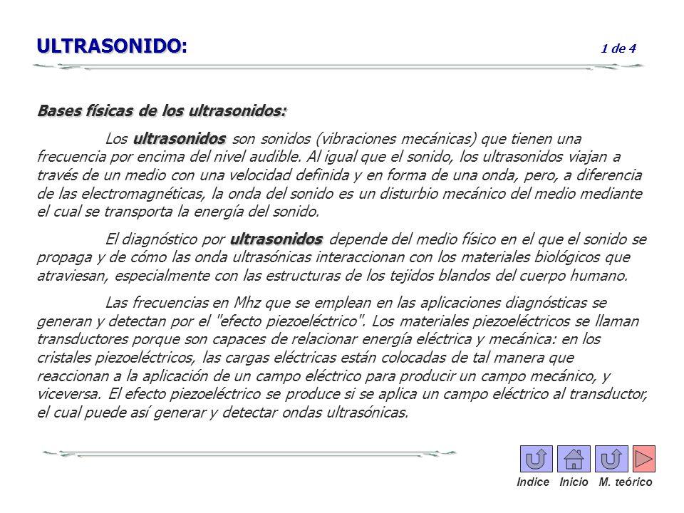 ULTRASONIDO: 1 de 4 Bases físicas de los ultrasonidos: