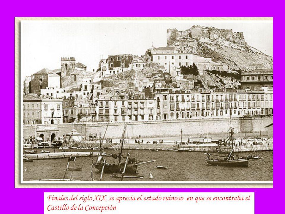 Finales del siglo XIX, se aprecia el estado ruinoso en que se encontraba el