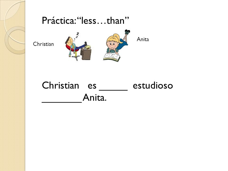 Práctica: less…than