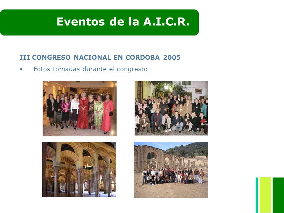 Eventos de la A.I.C.R. III CONGRESO NACIONAL EN CORDOBA 2005